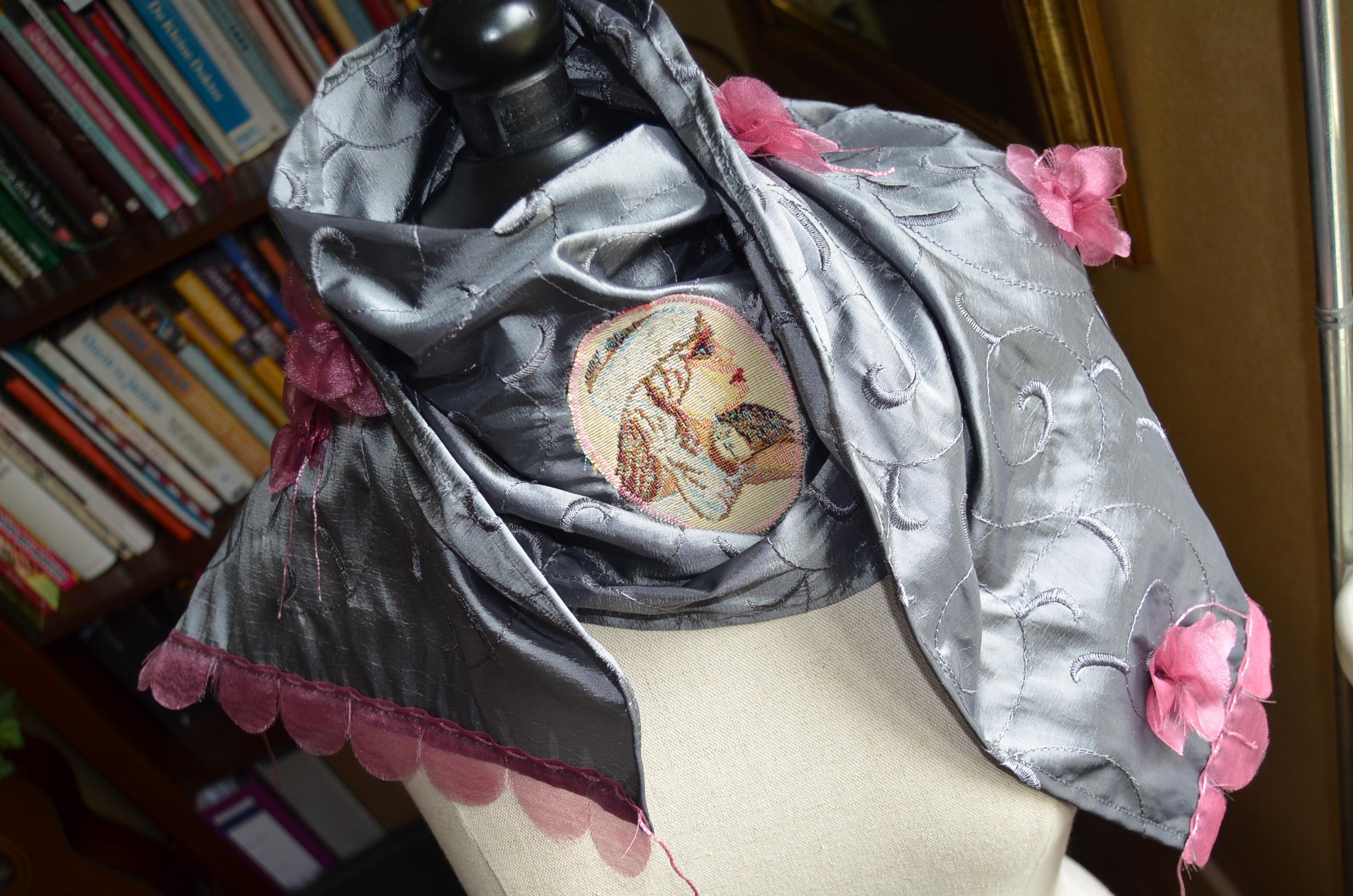 Grijsrose Sjaal - 150x34cm - €15,-