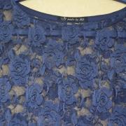 Poncho Blauw Kant - Lengte Voor 60cm - S/M - €25,-