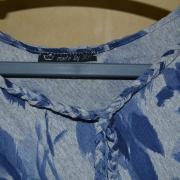 Poncho Blauw -  S-M - €25,-