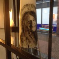 Janis Joplin op Kaars in Acryl